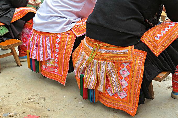 Kazhai Miao clothing detail