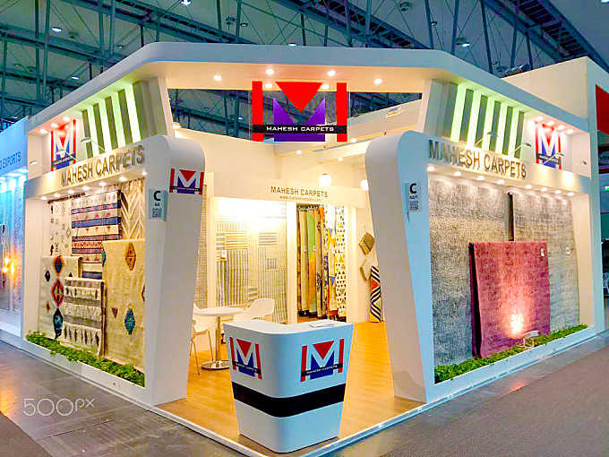Mahesh Carpets Exhibition Stand at Domotex, Hanover, Germany