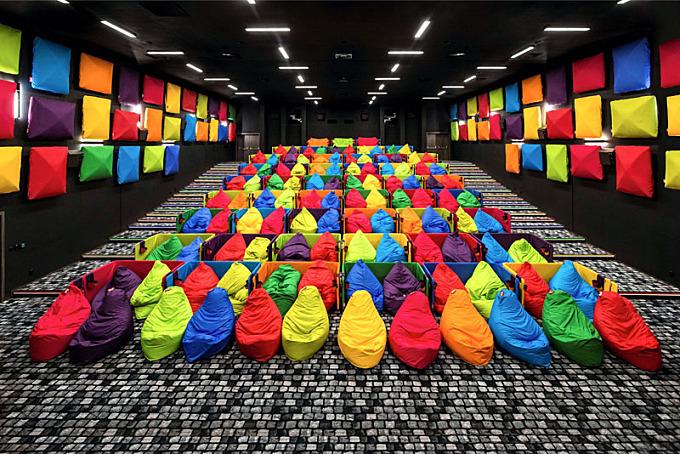 Fun colorful cinema in Slovakia