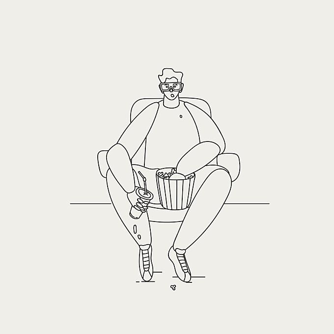 Minimalist Illustrations Of Characters