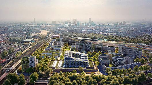 "Will Mecanoo's ""Blue District"" in Utrecht Promote a Generation of Urban Centenarians?"