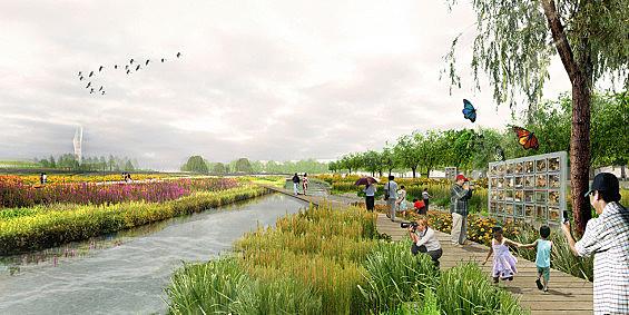 The Flower Garden Park | Ruichang, China | Chris Blandford Associates November 4, 2015,AEDT