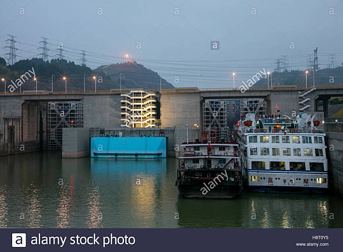Victoria Cruises, Yangtze River Trip, China - Stock Image