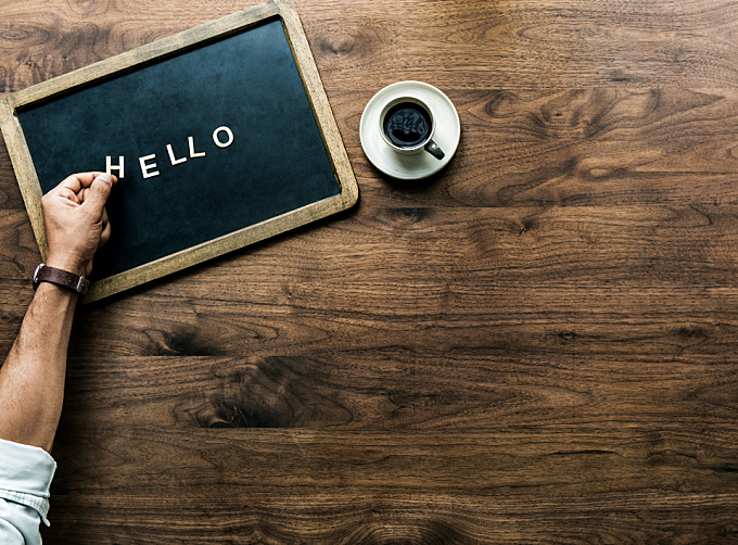 antique,  background,  black board,  board,  cafe,  casual,  chat,  coffee,  communication,  copy space,  cup,  design,  design space,  dialog,  drink,  enjoying,  flat lay,  flatlay,  font,  greeting,  hand,  hello,  hey,  hi,  hot drink,  letter,  letters,  message,  mug,  person,  speech