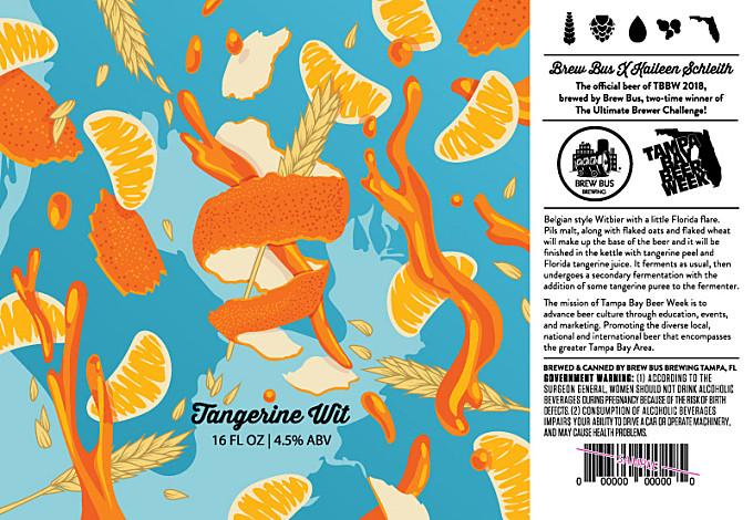TBBW Tangerine Wit Beer Label Design