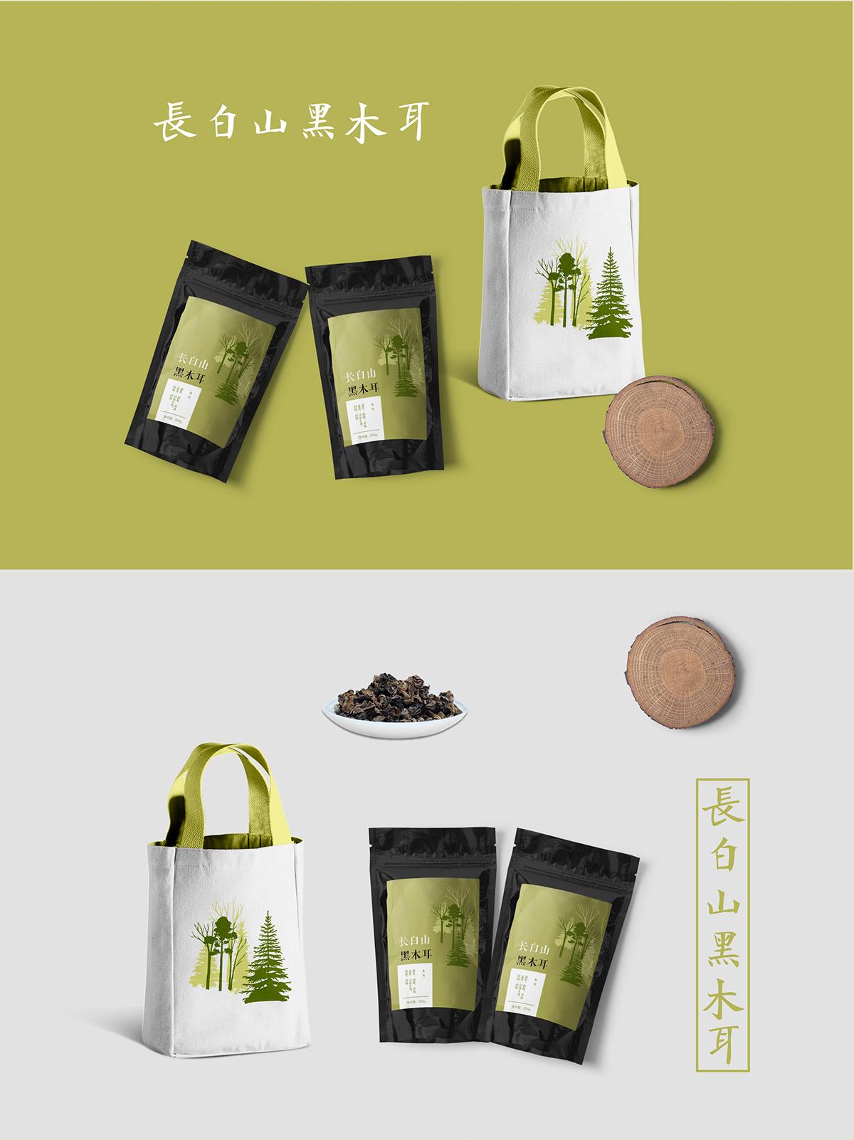 edible tree fungus packaging