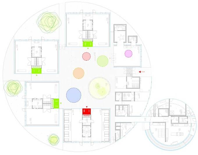 Rueda Pizarro Arquitectos, imagensubliminal · kindergarten in Vereda de Estudiantes