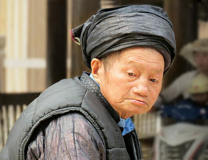 Elderly Dong villager