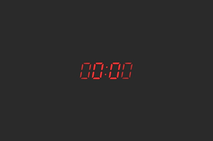 Photo of Device Displaying 00:00