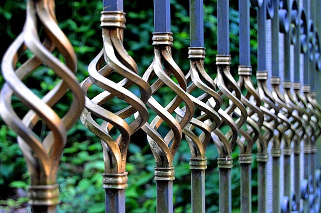iron gate, wrought iron, metal gate