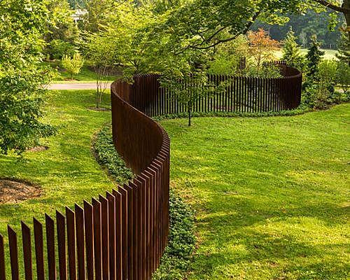 Cor-Ten Cattails Sculptural Fence