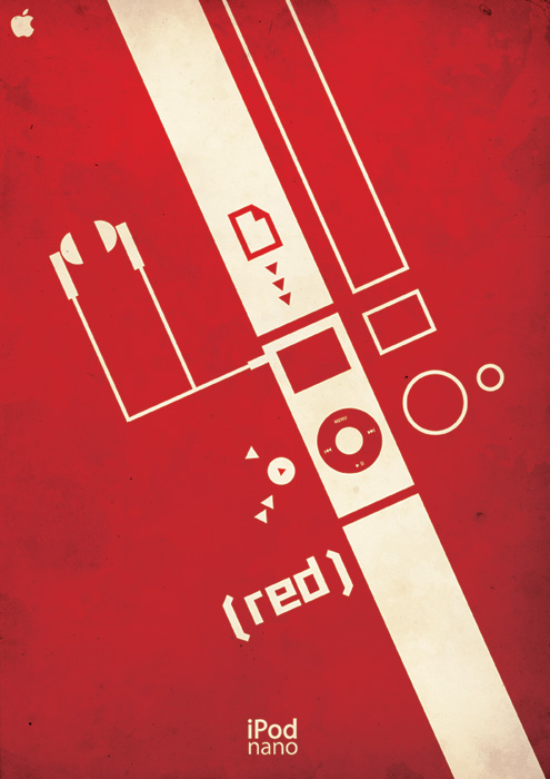 iPod -red- Complete Poster