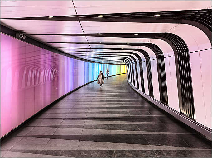 pedestrian tunnel at King's Cross