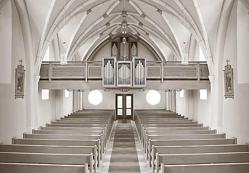 教会, 祭坛, 建设, 德国, 架构