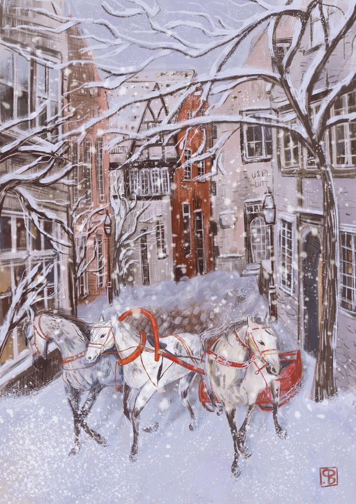 Тройка (новогодняя открытка)