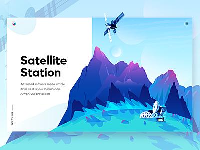 Satellite Station In Planet