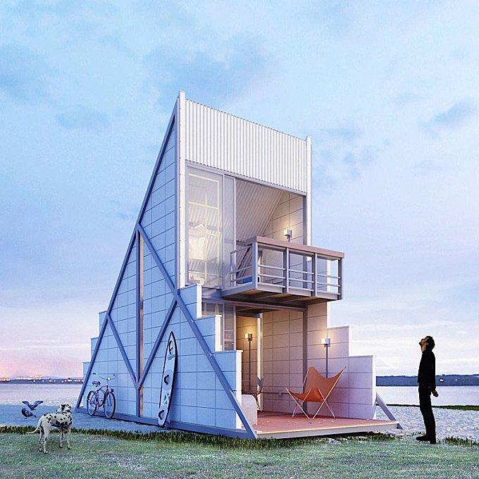 A Triangular Holidays House