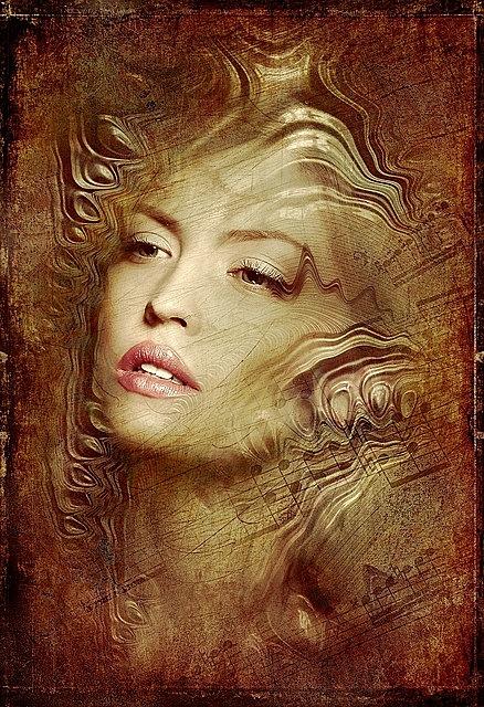 portrait, woman, antique