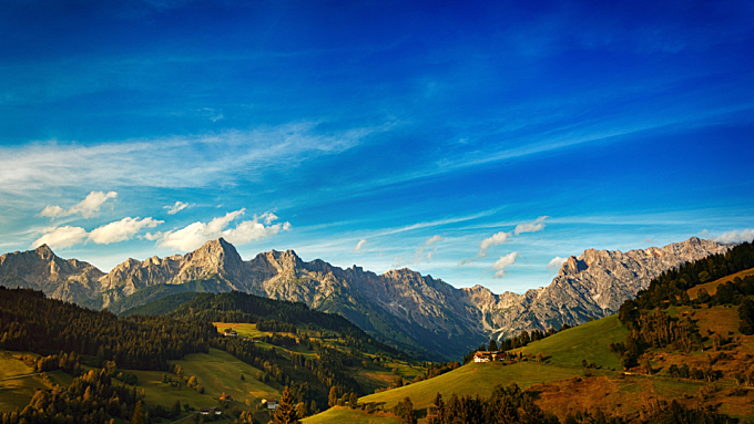 mountain,  landscape,  blue sky,  nature,  view,  vista,  scenery,  scenic,  dramatic,  beauiful,  hill,  grass,  green,  snow
