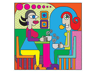 Ilustración para decoración Talentum coffee