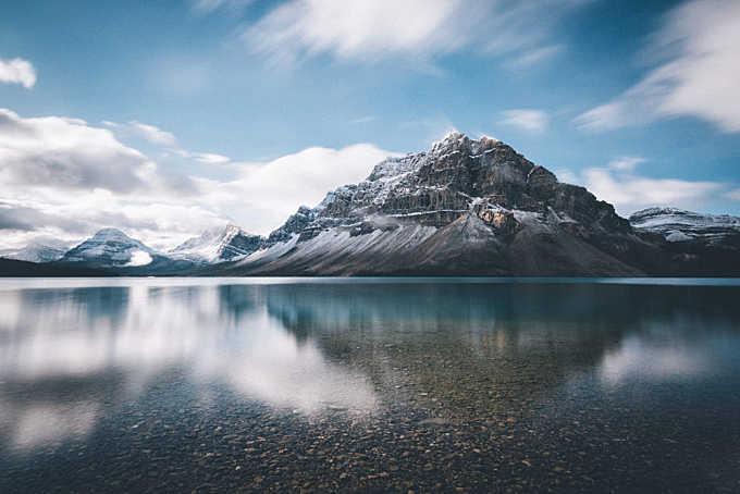Bow lake reflections.