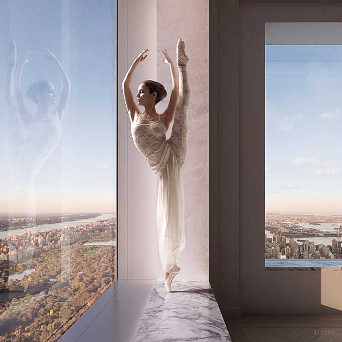 ballerina in the window by dbox, 432 Park avenue