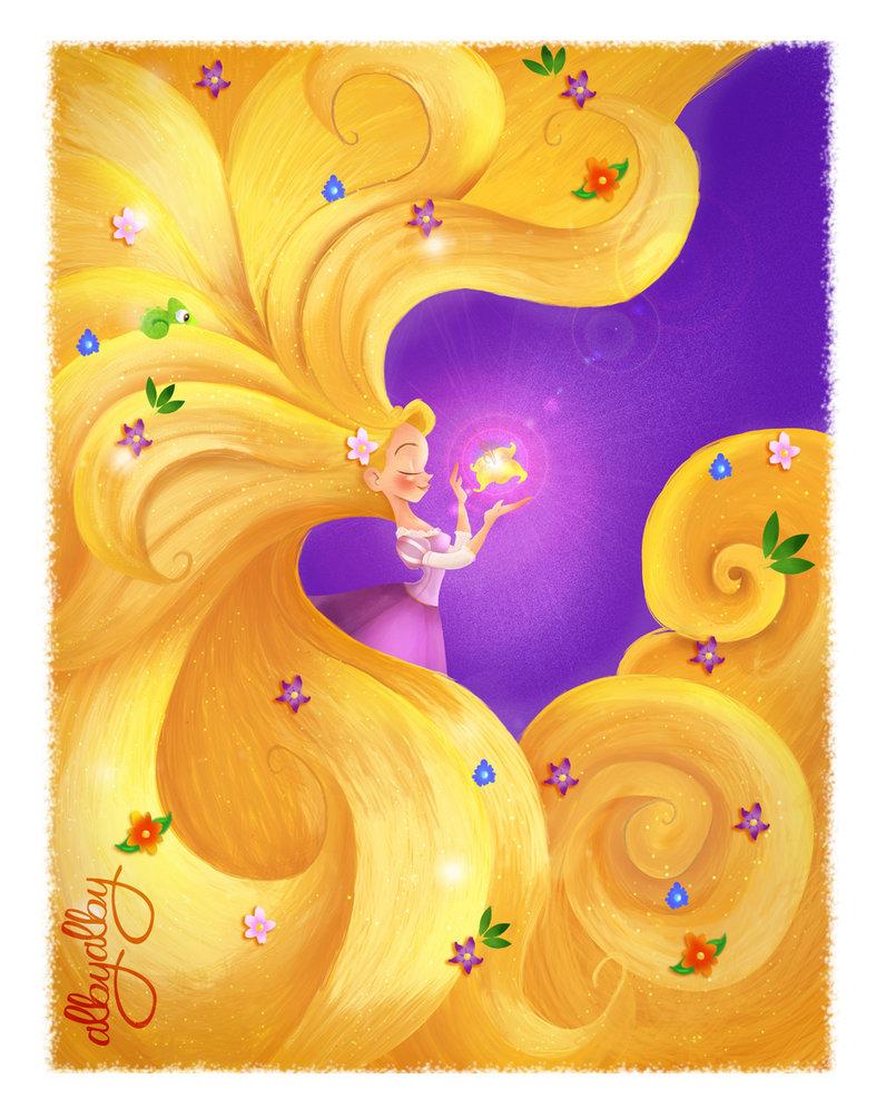 Rapunzel and the Magic Golen Flower