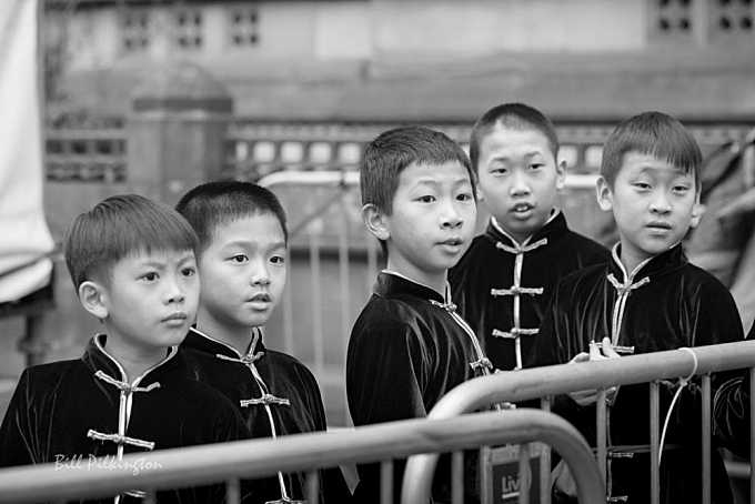 Chinese boys in traditional costume