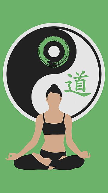 cat, yin yang, women