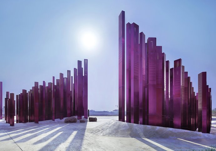 【公共藝術案例】——湖北襄陽中華紫薇園入口景觀/PENDA