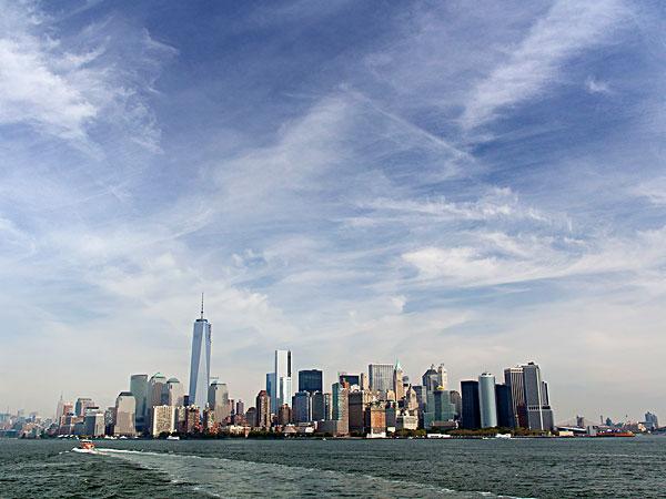 曼哈顿,天际线,东河
