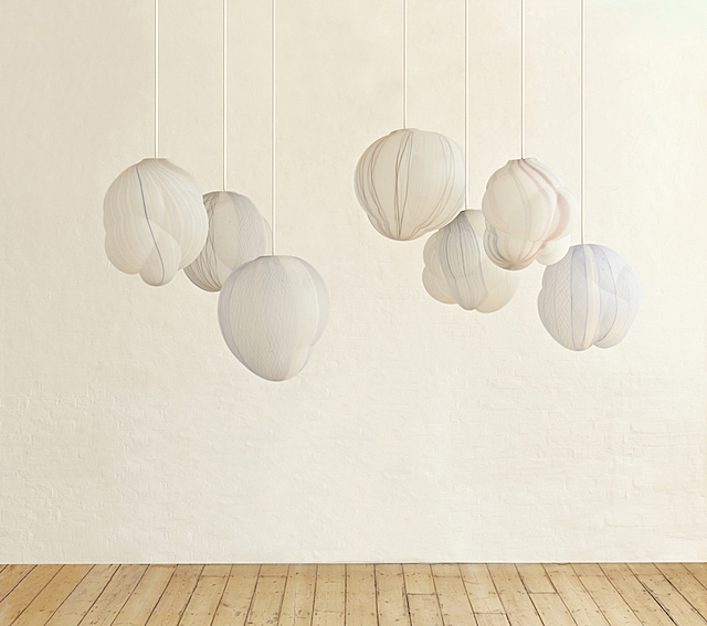 Suspended Clouds Lamps in Glass