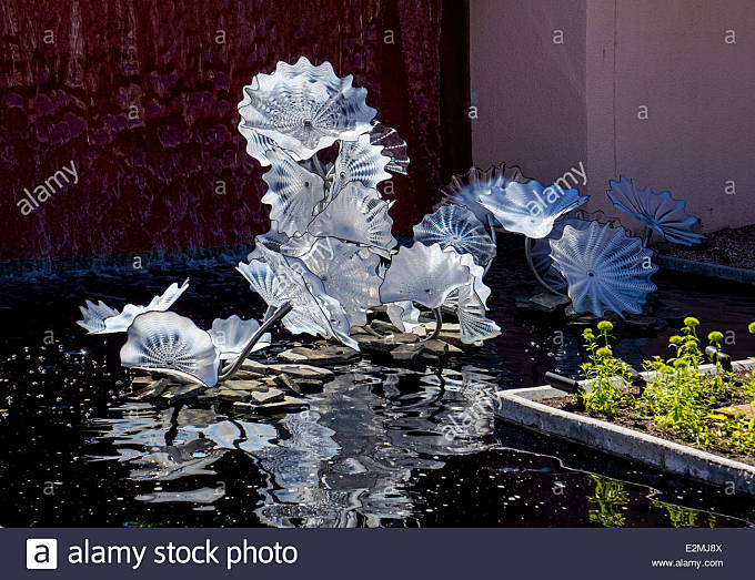 Dale Chihuly hand-blown glass art exhibit at the Denver Botanic Gardens - Stock Image