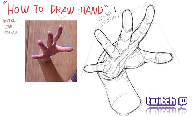 How to draw hand on Twitch :)