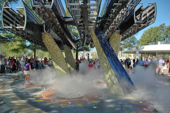 公园喷泉水景