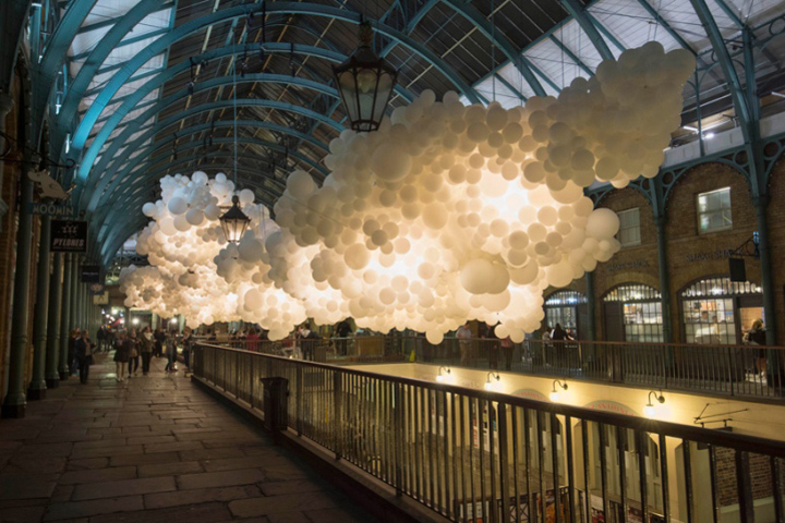 Heartbeat Installation by Charles Pétillon at Covent Garden, London - UK