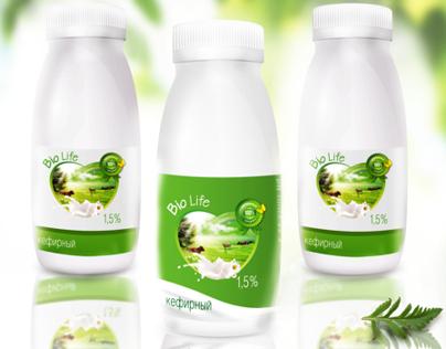 Package design for bio yogurt