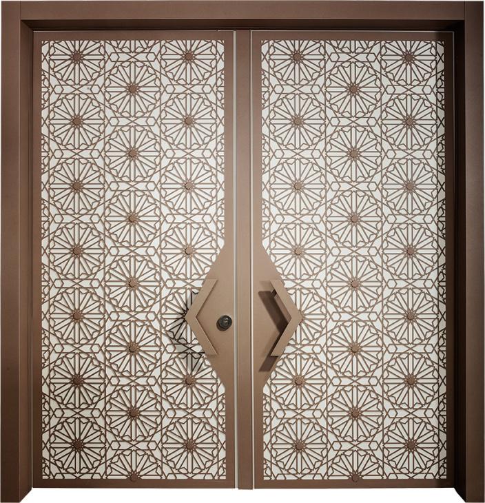 דלת חוץ סהרה דו כנפית, דלתות כניסה מעוצב