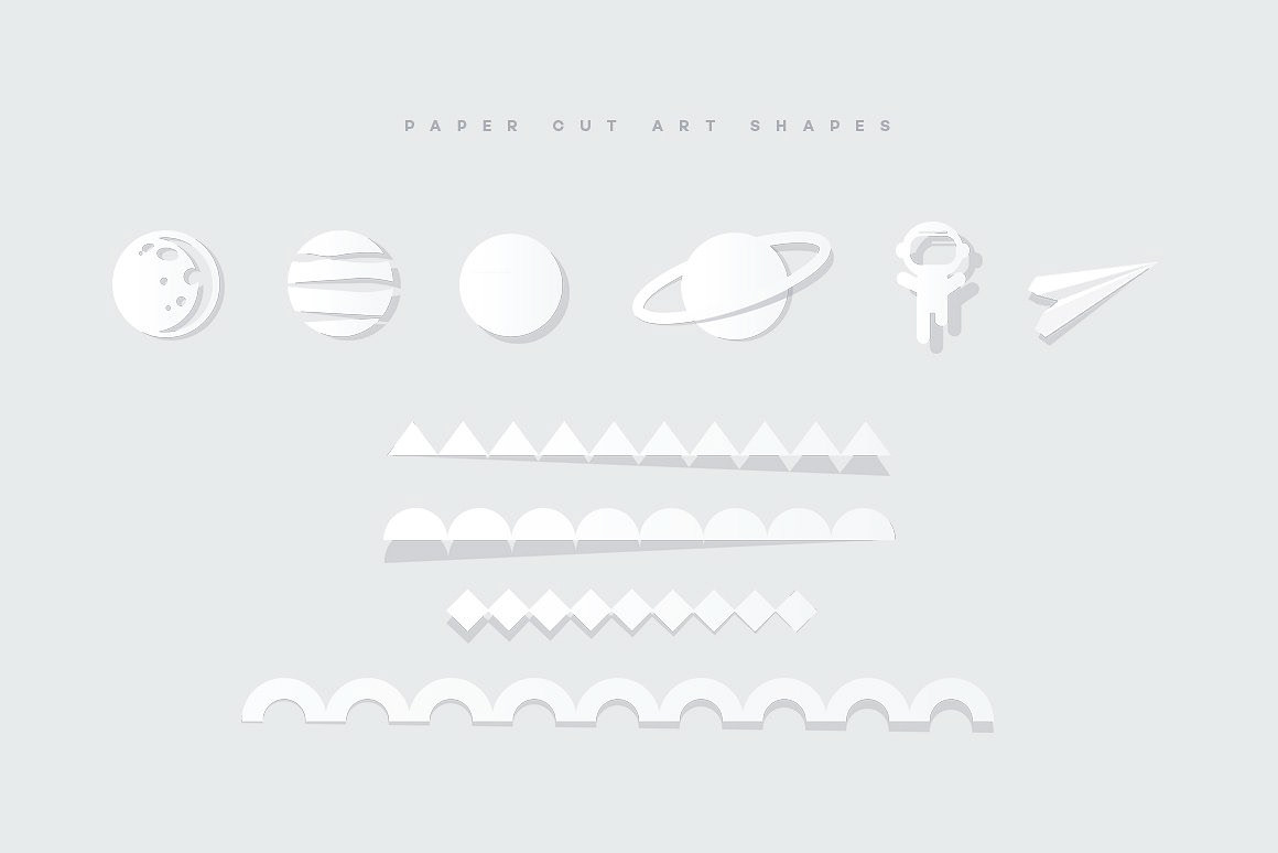 Vibrant Paper Cut Art Toolkit by Polar Vectors