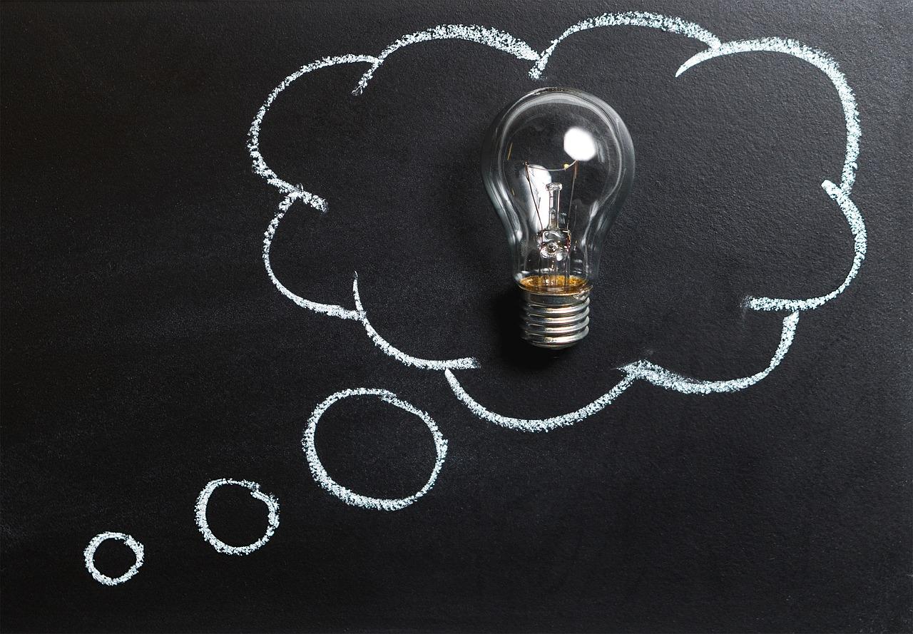 思想, 理念, 创新, 想象力, 启示, 灯泡, 解决方案, 头脑风暴