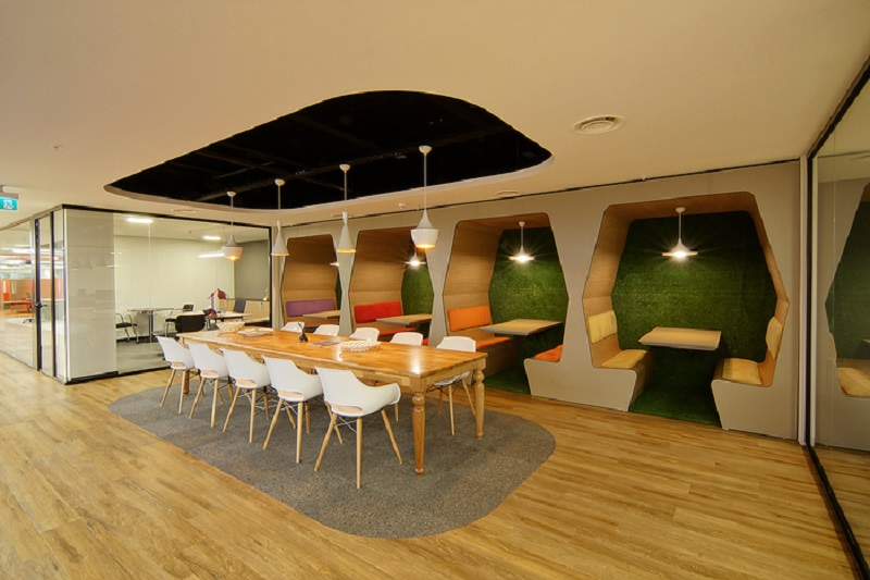 Relaxed offices of the company E Bebek in Istanbul