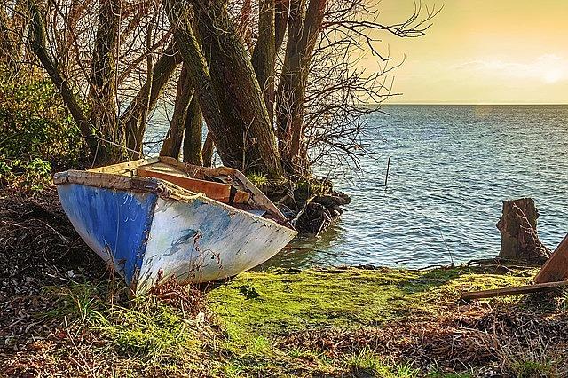 boat, part, lake balaton