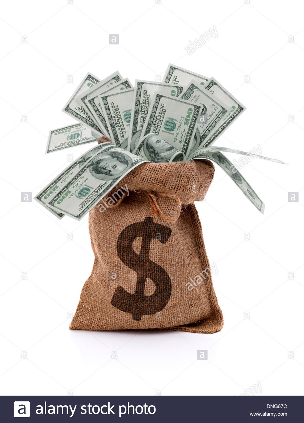 Money bag - Stock Image