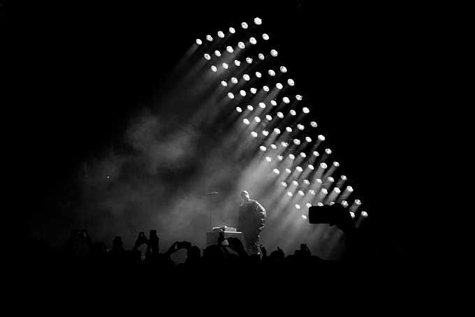 Kanye West preforms at Powerhouse in Anaheim, CA