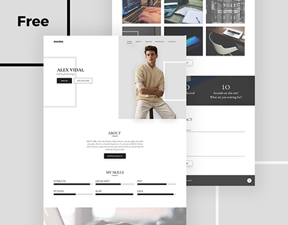 Alex – Free Personal Portfolio And Resume PSD Template
