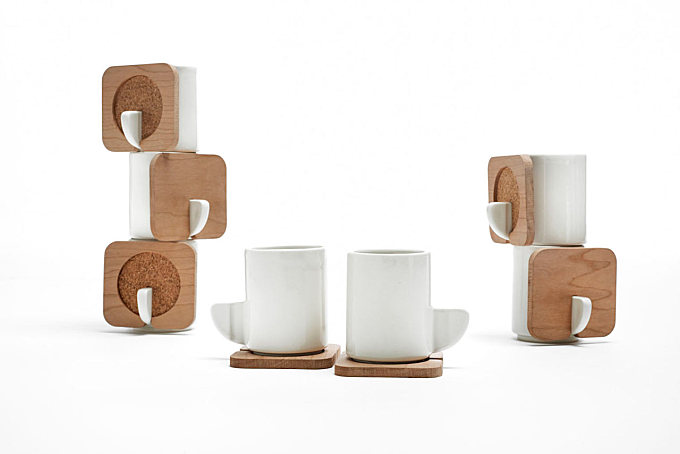 FIN Stacking Tea Cups by Hsin Lin