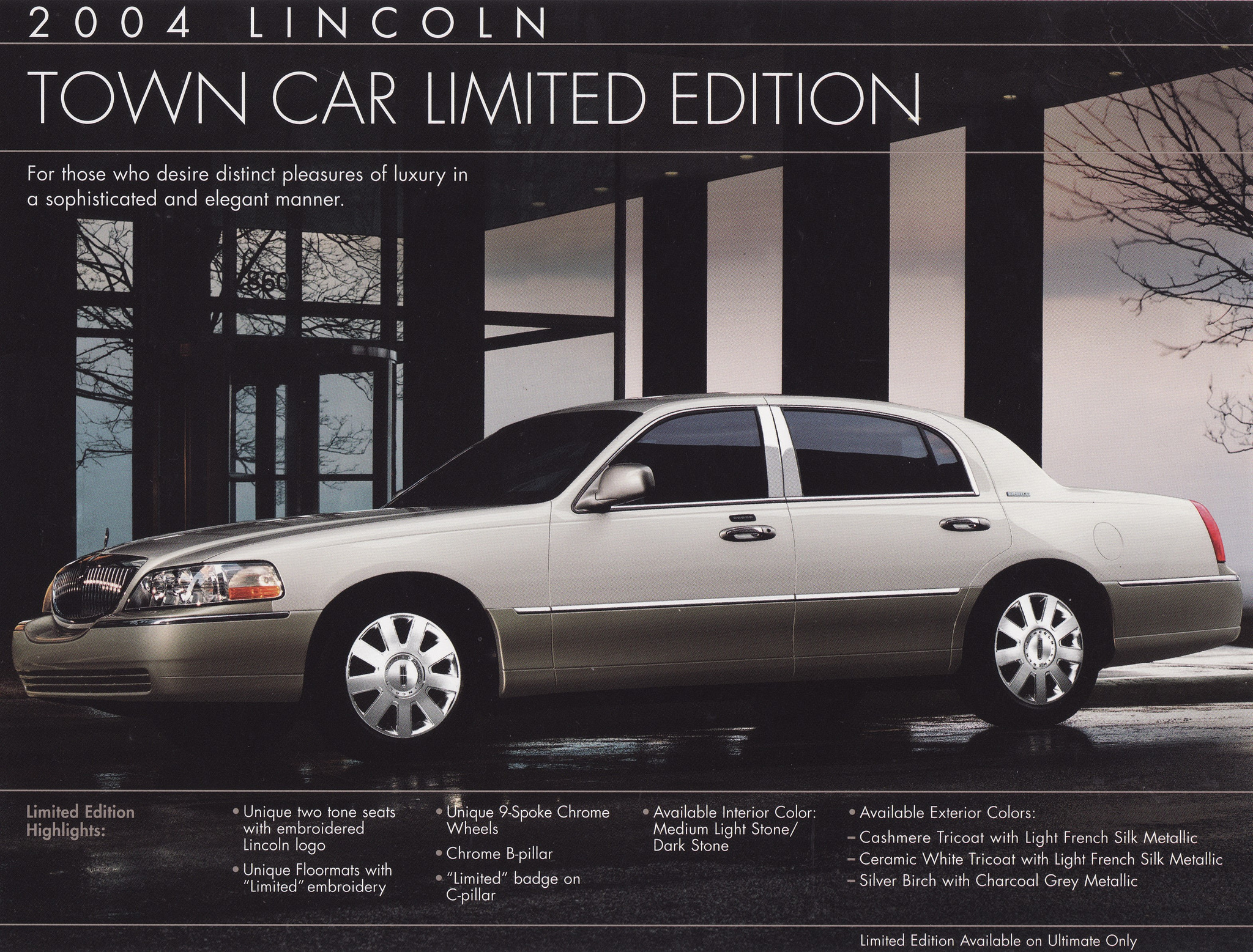 2004 Lincoln Town Car Limited Edition Brochure - USA