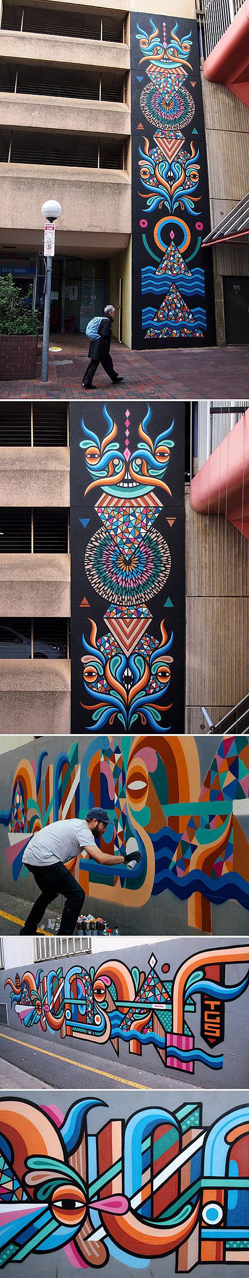Oi You! #graffiti #colours #street #wall #art #painting #beastman