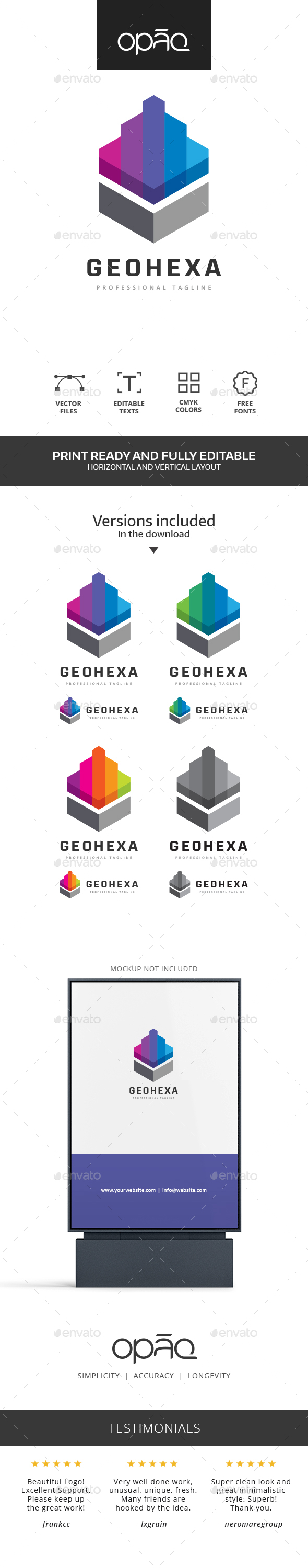 Need a new professional logo for your company or project? Opaq Media Design delivers great quality and trending logos for every taste and needs. You will find that all of our logos are highly skilled and there's surely one interesting for you. Our main goal is to bring quality logos all around the world.  .ai (illustrator CC) .ai (illustrator CS) .eps (illustrator 10) .psd (photoshop).jpg (white background) .png (transparent background) .txt (links to the free fonts)  For a scalable and vector version for web, open the .AI or .EPS version and «save as» the logo in .SVGLOGO SPECIFICATIONS  Full vectors 100% editable and scalable Editable colors CMYK colors Print ready Free fonts  The preview mockup is not included in the download file. It's