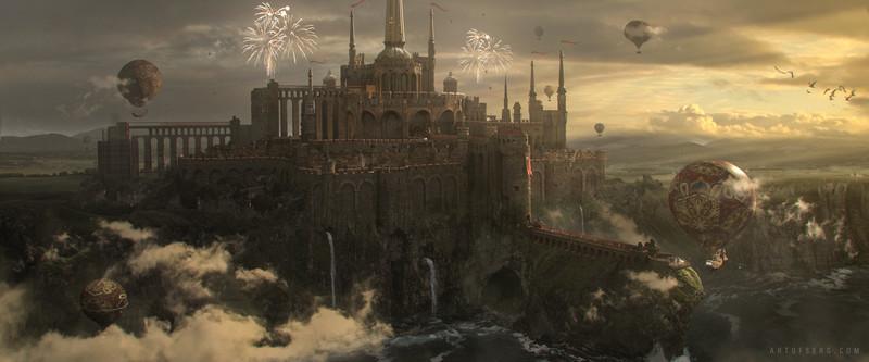 Castle on the coast.